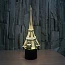 baratos Luzes inteligentes-torre 3 d lâmpada estéreo visual criativo lâmpada a lâmpada de projeção lâmpadas de toque