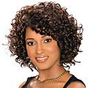 billige Syntetiske parykker-Syntetiske parykker Krøllet Syntetisk hår Svart Parykk Dame Kort Lokkløs Mørkebrun / Mørk Rødbrun