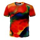 preiswerte Pendelleuchten-Herrn Einfarbig - Aktiv Sport Baumwolle T-shirt, Rundhalsausschnitt Druck / Kurzarm