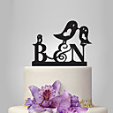 cheap Cake Toppers-Cake Topper Garden Theme / Classic Theme / Fairytale Theme Monogram Acrylic Wedding / Anniversary / Bridal Shower with OPP