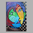 cheap Animal Paintings-Oil Painting Hand Painted - People Classic Canvas