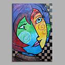 tanie Obrazy: motyw ludzi-Hang-Malowane obraz olejny Ręcznie malowane - Ludzie Klasyczny Naciągnięte płótka / Rozciągnięte płótno