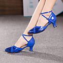 cheap Head Up Display-Women's Modern Shoes Heel Splicing Customized Heel Customizable Dance Shoes Red / Blue / Pink / Indoor