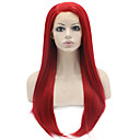 cheap Contemporary Duvet Covers-Synthetic Lace Front Wig Straight Synthetic Hair Natural Hairline Red Wig Women's Long Lace Front