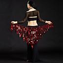 levne Taneční doplňky-Břišní tanec Šátky na břišní tance Dámské Výkon Polyester Flitry Šátek přes boky