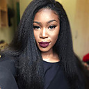 cheap Synthetic Lace Wigs-Synthetic Lace Front Wig Straight / Yaki Synthetic Hair Natural Hairline Black Wig Women's Medium Length / Long Lace Front