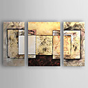 cheap Abstract Paintings-Oil Painting Hand Painted - Abstract Abstract / Modern / Contemporary Canvas / Stretched Canvas