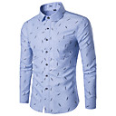 رخيصةأون سنيكرز رجالي-للرجال قميص هندسي, طباعة ياقة كلاسيكية ضعيف