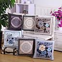 baratos Almofadas de Decoração-1 pçs Veludo Fronha Cobertura de Almofada, Floral Inovador Casual Europei Tradicional/Clássico Moderno/Contemporâneo