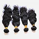 halpa Aitohiusperuukit-4 pakettia Perulainen Luonnolliset aaltoilevat 10A Virgin-hius Hiukset kutoo 8-28 inch Hiukset kutoo Hiukset Extensions