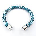 זול Fashion Ring-בגדי ריקוד נשים צמידי Strand - וינטאג', קשת, טבע צמידים אדום / ירוק / כחול בהיר עבור Christmas Gifts חתונה Party