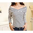 baratos Acessórios de Cabelo-Mulheres Camiseta Sólido Decote V