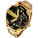 levne Vojenské hodinky-Pro páry Sportovní hodinky Vojenské hodinky Náramkové hodinky Křemenný Nerez Černá / Stříbro / Orange Kalendář kreativita Hodinky s dvojitým časem Analogové Luxus Vintage Na běžné nošení Skládan / #
