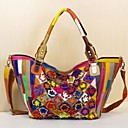 cheap Cycling Jersey & Shorts / Pants Sets-Women's Bags Cowhide Tote Flower Rainbow