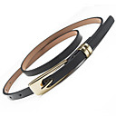 cheap Rings-Women's Dress Belt Alloy Skinny Belt - Solid Colored Shiny Metallic