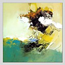 baratos Pinturas Abstratas-Pintura a Óleo Pintados à mão - Abstrato Contemprâneo Tela de pintura