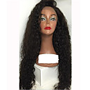 cheap Human Hair Wigs-Human Hair Glueless Lace Front / Lace Front Wig Water Wave Wig 150% Natural Hairline / African American Wig / 100% Hand Tied Women's Medium Length / Long Human Hair Lace Wig