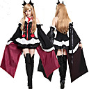 billiga Animekostymer-Inspirerad av Seraph of the End Krul Tepes Animé Cosplay-kostymer cosplay Suits / Klänningar / Cosplay Toppar / Bottoms Ensfärgat / Sydd spets Klänning / Ärmar / Korsetter Till Dam / Huvudbonad