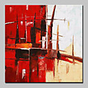 abordables Adhesivos de Pared-Pintura al óleo pintada a colgar Pintada a mano - Abstracto Abstracto / Moderno / Contemporáneo Incluir marco interior
