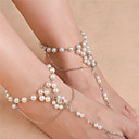 cheap Anklet-Pearl Barefoot Sandals - Imitation Pearl Flower Fashion Gold / Silver For Daily / Casual / Women's