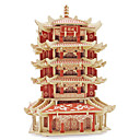 cheap 3D Puzzles-Jigsaw Puzzles 3D Puzzles Building Blocks DIY Toys Architecture Wood Model & Building Toy