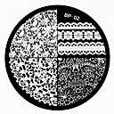 billige Neglestempling-1 pcs Stempling plade Skabelon Negle kunst Manicure Pedicure Mode Daglig / Stempling Plate