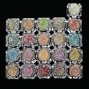 abordables Purpurina para Manicura-1 juego / 26 piezas Brillante 6 colores arte de uñas Manicura pedicura Elegante / Brillos Y Estrellas / Nail Glitter