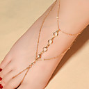 cheap Body Jewelry-Crystal Barefoot Sandals - Crystal Drop Fashion Gold / Silver For Daily Casual Women's