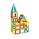cheap Magnetic Building Blocks-Magnetic Blocks Building Blocks Jigsaw Puzzle Model Building Kit Square Triangle Magnetic Girls' Boys' Unisex Toy Gift