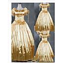 preiswerte Lolita Kleider-Gothic / Viktorianisch / Mittelalterlich Kostüm Damen Kleid / Party Kostüme / Maskerade Vintage Cosplay Satin / Other Kurzarm Kappe