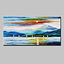 זול ציורים מופשטים-ציור שמן צבוע-Hang מצויר ביד - L ו-scape מודרני סגנון ארופאי כלול מסגרת פנימית