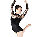 cheap Ballet Dance Wear-Ballet Leotards Women's Performance Elastic / Elastane / Lace Lace Long Sleeve Natural Leotard / Onesie / Headwear