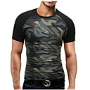 ieftine Cizme Bărbați-Bărbați Rotund - Mărime Plus Size Tricou Sport Bumbac Militar - camuflaj Imprimeu / Manșon scurt / Zvelt
