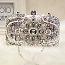 cheap Clutches & Evening Bags-Women's Bags Silk Evening Bag Sparkling Glitter / Pearls for Event / Party / Formal Silver