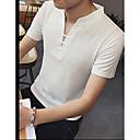preiswerte Parykopfbedeckungen-Herrn Solide - Aktiv Chinoiserie Sport Baumwolle T-shirt, V-Ausschnitt