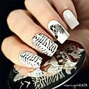 abordables Estampados para Uñas-1 pcs Estampado de placa Modelo arte de uñas Manicura pedicura Moda Diario / Placa de estampado