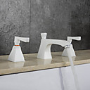 hesapli Asma Lambalar-Banyo Lavabo Bataryası - Yağmur Duşları / Yaygın / Termostatik Krom Ayrılmış Gövdeli İki Kolları Üç Delik