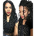 cheap Hair Braids-Braiding Hair Wavy / Deep Twist Hair Accessory / Human Hair Extensions Human Hair 20 roots / pack, 1pc / pack Hair Braids Dreadlock Extensions / Dreads Locs / Crochet Faux Dreads Daily