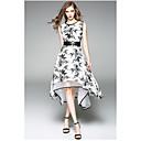 baratos Smartwatches-Mulheres Sofisticado balanço Vestido - Estampado, Floral Altura dos Joelhos