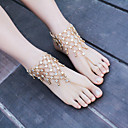 cheap Bracelets-Barefoot Sandals - Flower Fashion Gold / Silver For Dailywear / Casual / Outdoor clothing / Women's / Rhinestone