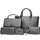 baratos Conjunto de Bolsas-Mulheres Bolsas PU Conjuntos de saco 5 Pcs Purse Set Vermelho / Cinzento / Marron / Conjuntos de sacolas