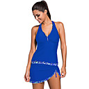 cheap Necklaces-Women's Tankini Reduces Chafing, Stretch, Low-friction Tactel Swimwear Beach Wear Swimwear Swimming / Diving / Surfing