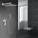 cheap Shower Faucets-Shower Faucet - Contemporary Modern Style Chrome Wall Mounted Ceramic Valve