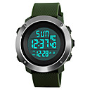 cheap Audio & Video Cables-SKMEI Men's Sport Watch Military Watch Wrist Watch Japanese Digital 50 m Water Resistant / Water Proof Alarm Calendar / date / day PU Band Digital Fashion Black / Green / Grey - Black Gray Green Two