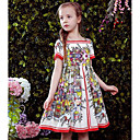 cheap Girls' Dresses-Girls' Floral Floral Short Sleeve Dress