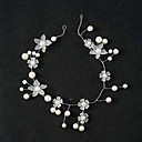 cheap Party Headpieces-Pearl Acrylic Headbands Headwear Head Chain with Floral 1pc Wedding Special Occasion Headpiece
