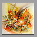 cheap Prints-Oil Painting Hand Painted - Floral / Botanical Modern / Contemporary Canvas