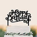 billige Kakedekorasjoner-Kakepynt Fødselsdag Bryllup Høy kvalitet Plast Bryllup Bursdag med 1 PVC Veske
