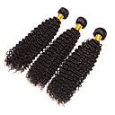 cheap Synthetic Capless Wigs-3 Bundles Brazilian Hair Kinky Curly / Curly Weave Virgin Human Hair Natural Color Hair Weaves Human Hair Weaves Human Hair Extensions