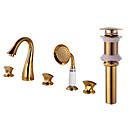 cheap Bathroom Sink Faucets-Widespread Widespread Brass Valve Three Handles Five Holes Faucet Set